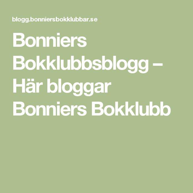 Bonniers Bokklubbsblogg – Här bloggar Bonniers Bokklubb