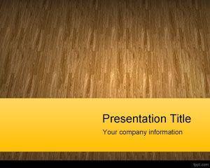 Plantilla de PowerPoint de material de madera