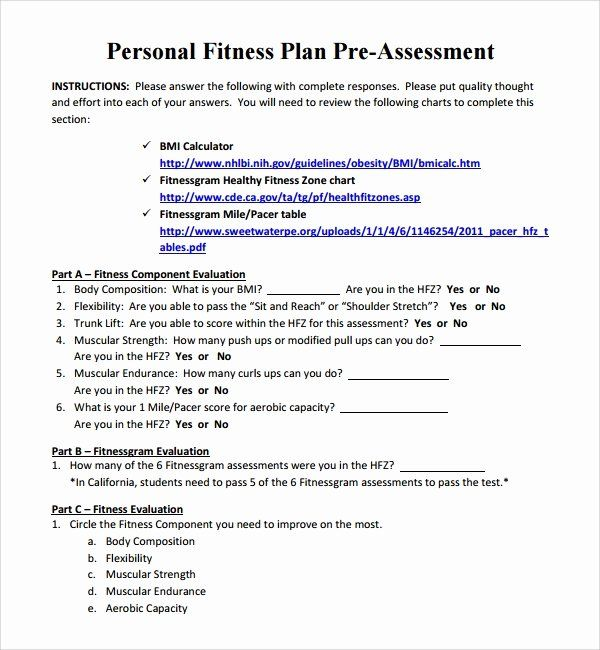 Personal Fitness Plan Template Best Of 10 Fitness Plan Templates Personalized Workout Plan Workout Plan Business Plan Template