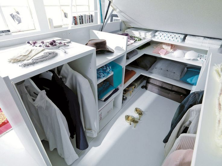 A Full Closet Is Hidden Under This Bed