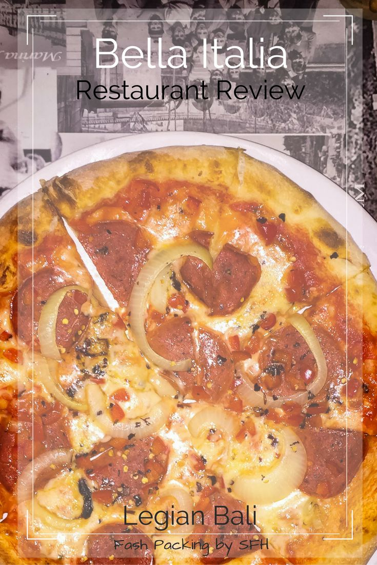 Bella Italia in Legian Bali is a great option for a late night feed. Pizza is always a good idea!