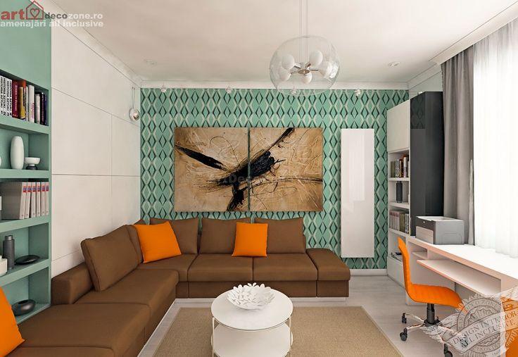 Amenajare apartament 2 camere, ansamblu rezidential Bucuresti. www.artdecozone.ro, #amenajariapartament, #decorinterior