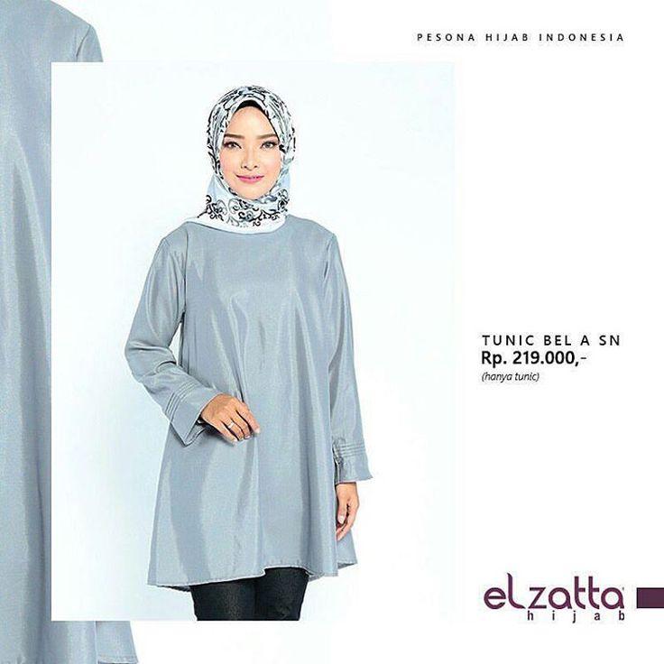 """7 Likes, 1 Comments - Jilbab Elzatta (@elzattaolshop) on Instagram: """"Tampil elegan dengan Tunik Bel A SN! Desainnya yang sederhana namun manis, cocok untuk digunakan…"""""""