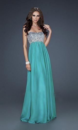 an elegant evening dress