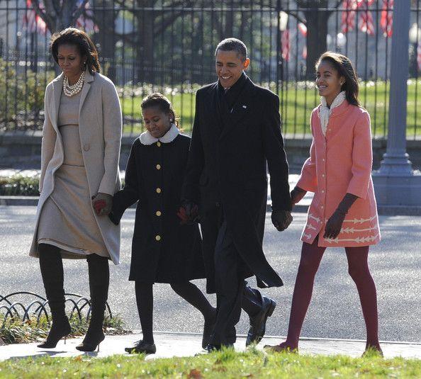 President Barack Obama, Michelle Obama, Malia and Sasha