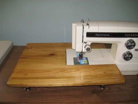 diy sewing machine extension table