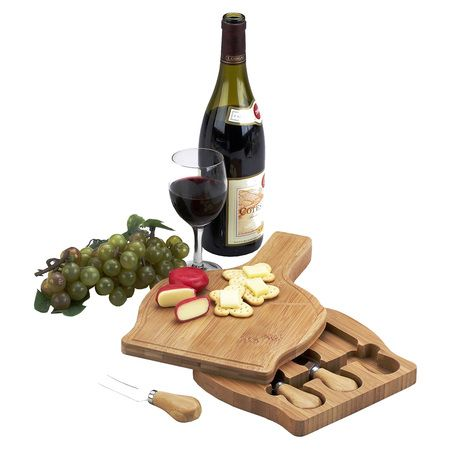 Chianti Bamboo Cheese Board Set with 3 Tools