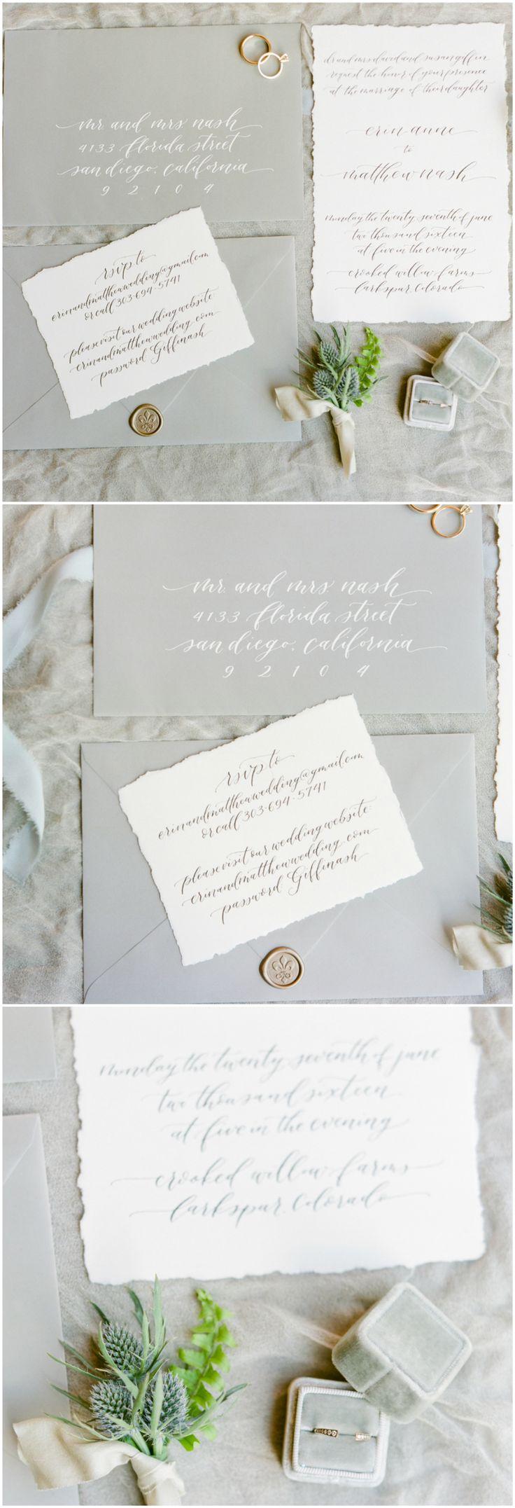 Best 25 Grey Wedding Invitations Ideas On Pinterest