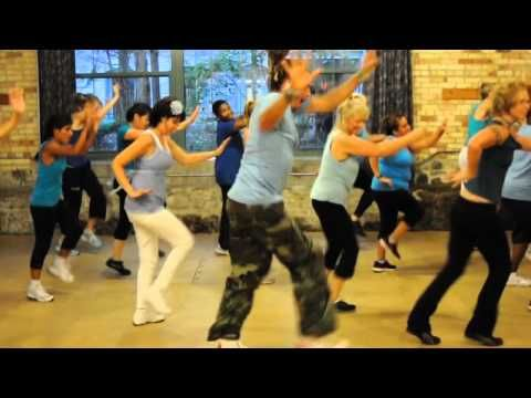 Zumba: Party Rock Anthem. So much fun, and that guy is hilariously ridiculous.