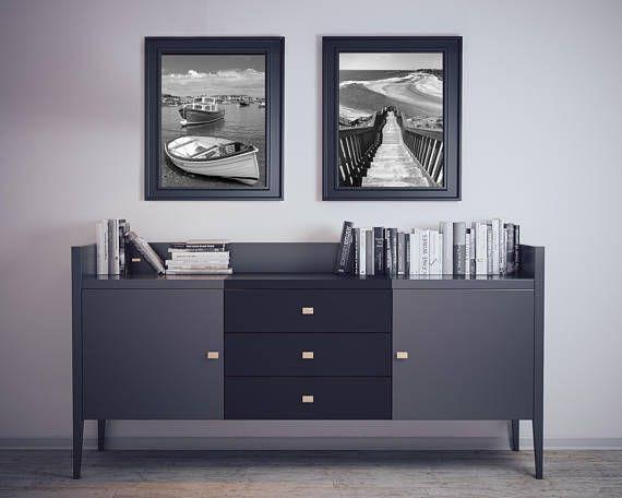 Sail Boat Print, Beach Wall Photography, Ocean Wall Art, Coastal Prints Set of 2, Beach Cottage Home Decor, 11x14', http://etsy.me/2uuRHV3  #SailBoatPrint #BoatPrint #CoastalPrint #StairsPrint #Print #BeachCottageDecor