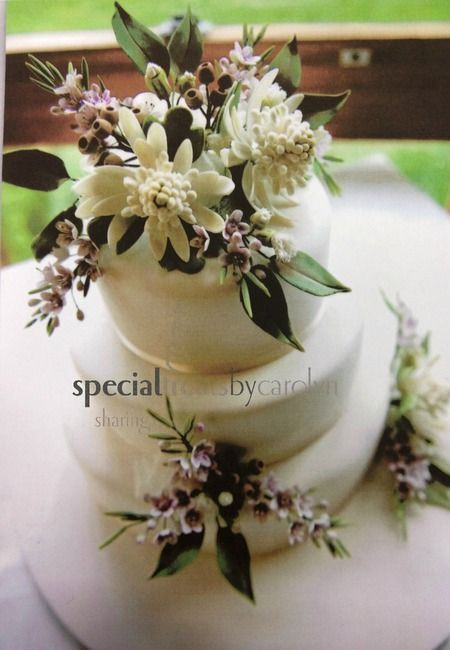 The answer to your search for sugar Australian Native Wild flowers wedding cake is solved.