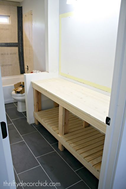 How to build an open vanity in a bathroom and LOVE the results!