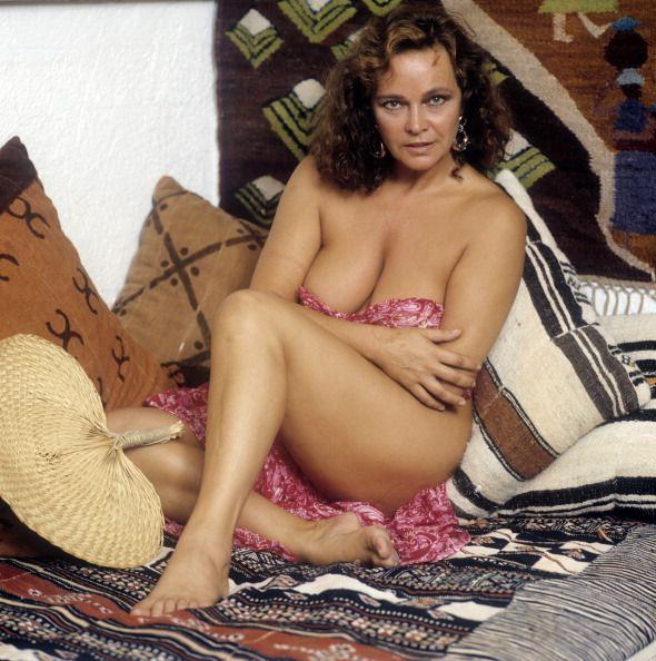 Portrait of Italian actress Laura Antonelli in a seductive pose 1989