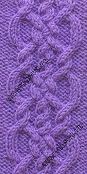 Cable pattern - 20 stitches, 16 row repeat - узор 683