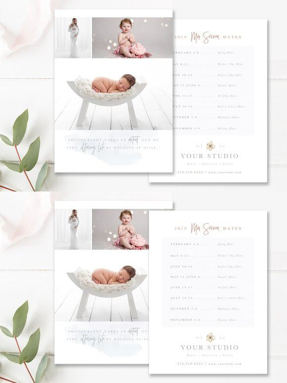 mini session dates flyer template photography flyers pinterest