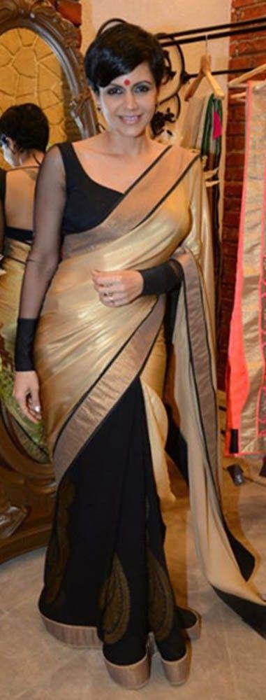 #Mandira #Bedi #Black #Saree !!!!!!