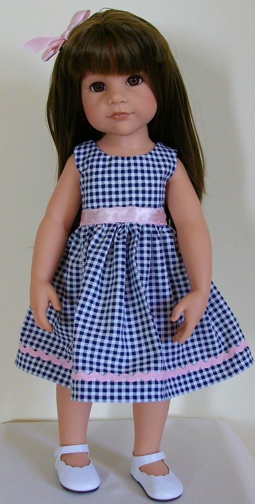 dress bow hair slide made for 18 inch Dolls Designafriend/Gotz hannah