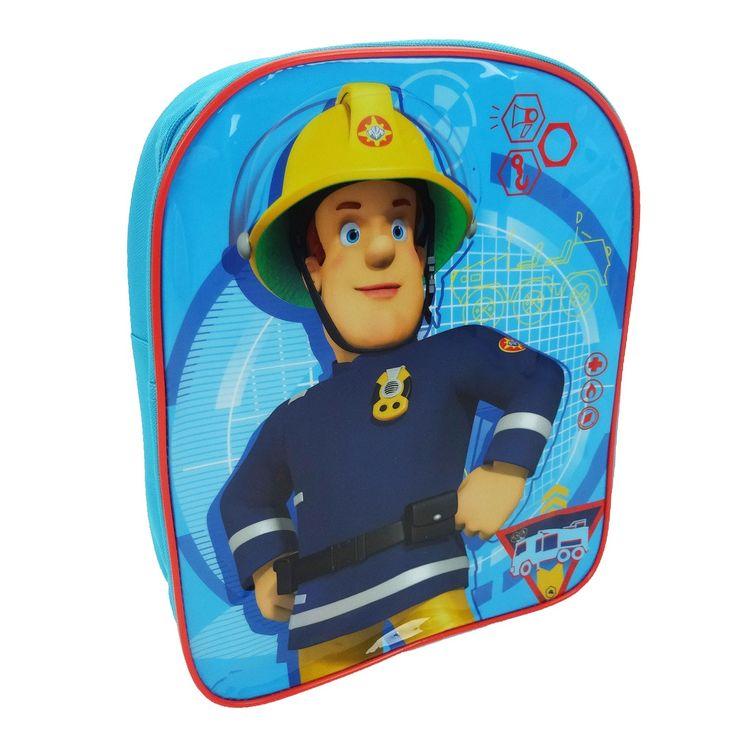 Laat je kind zich een stoere brandweerman voelen met deze gave rugtas van Brandweerman Sam. De tas is blauw met rood en is voorzien van verstelbare schouderbanden en een ritssluiting. Afmeting: 31 x 24 x 7 cm - Brandweerman Sam Rugtas