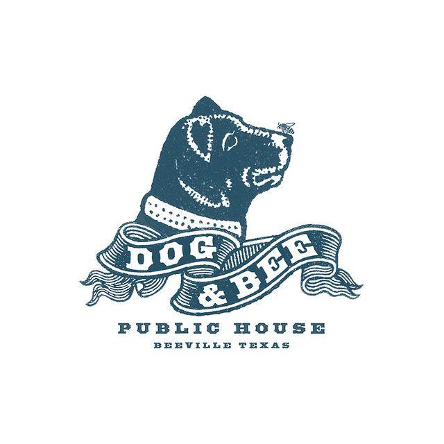 Dog & Bee Pub Logo by Howdy, I'm H. Michael Karshis