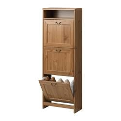 GREVBÄCK Shoe cabinet with 3 compartments - IKEA