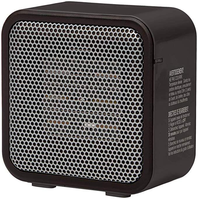 Amazonbasics 500 Watt Ceramic Small Space Personal Mini Heater Black Portable Heater Small Heater Space Heaters