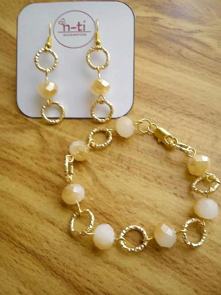 f45910d066f0 Aretres y pulsera Cristal y cadena