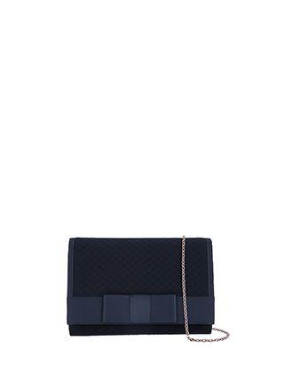 Sienna Woven Bow Clutch Bag