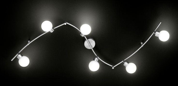 Lampa sufitowa, oprawa APOLLO Wofi 9542.06 - Cudowne Lampy