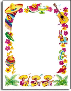 Mexican food clipart borders Mexican invitations