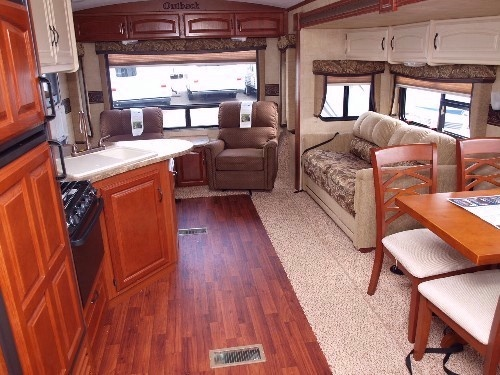 Spacious living inside the Outback 277 RL Travel Trailer