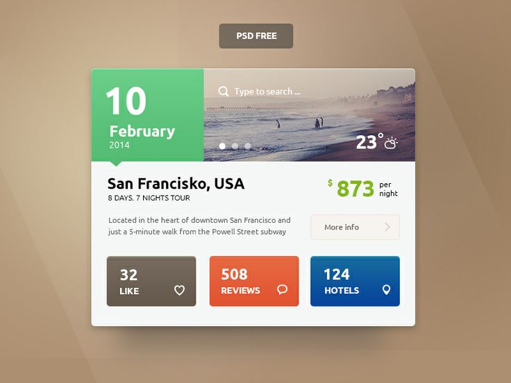 Small Travel UI