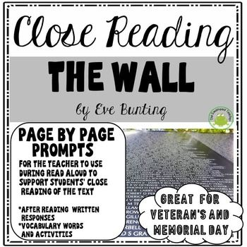 This resource is a Close Reading and Vocabulary Pack for the book The Wall by Eve Bunting. This is a great text to read for Veteran's Day and Memorial Day.