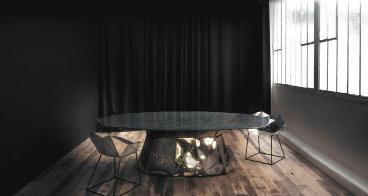 table Parallax by designer Julian Mayor  ©Armel Soyer Gallery
