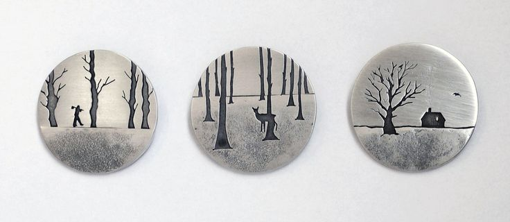 Winter Brooches by Jane Dodd