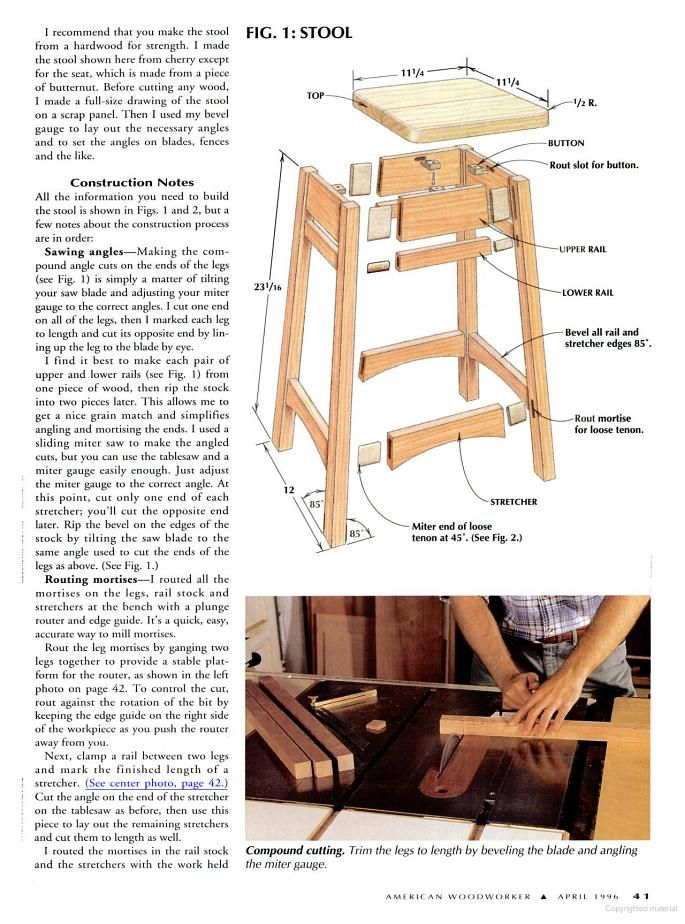 Bar Stool Plans 1 Jpg 685 215 924 Pixels Woodworking