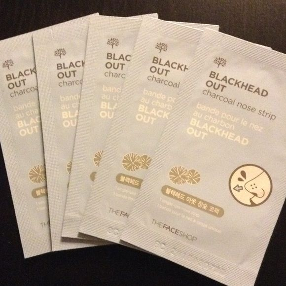 THEFACESHOP Charcoal Nose Strip THEFACESHOP Blackhead Out Charcoal Nose Strips (5) single use nose strip to get rid of blackheads on your nose area. ❤️❤️ Purchased in Korea. ❤️ The Face Shop Makeup Concealer