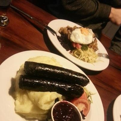 Famous black sausage in Finland, you must go to Tampere to try it!