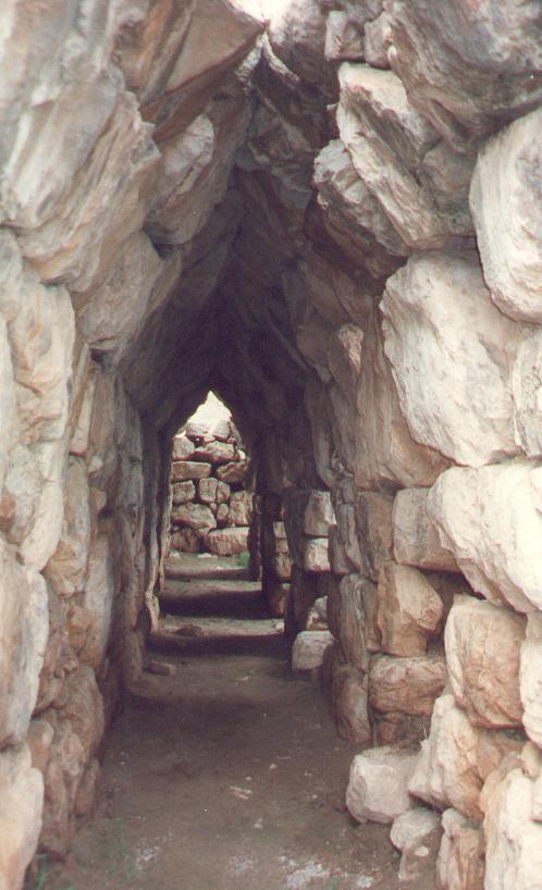 Tiryns (Tirinto). Mycenean fortress/palace. Argolid, Greece. Bronze Age - ca 1,400 BCE.                                                                                                                                                                                 Plus
