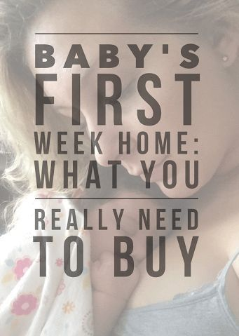 Baby's First Week Home: What You Really Need  I'm a simple girl and I don't like spending money on things that I don't really need, so you're only going to see my absolute must-haves on this list, the things that truly got me through those first few weeks at home with a new baby. T