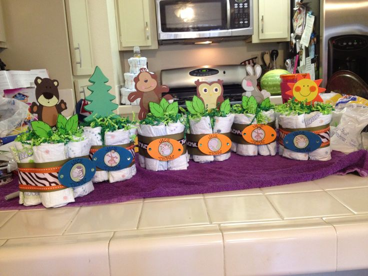 Woodland Animal Friends Centerpieces!!! :) They turned out adorable!! Happy to have helped make them :)