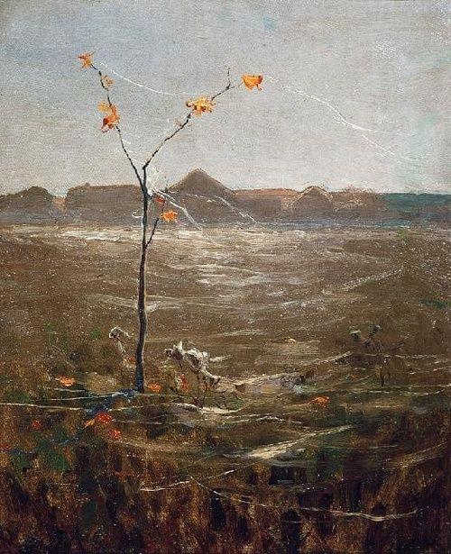 Ferdynand Ruszczyc (Polish, 1870-1936), Babie lato [Gossamer]. Oil on canvas.