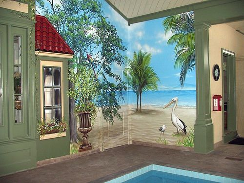 Pool Mural right wall