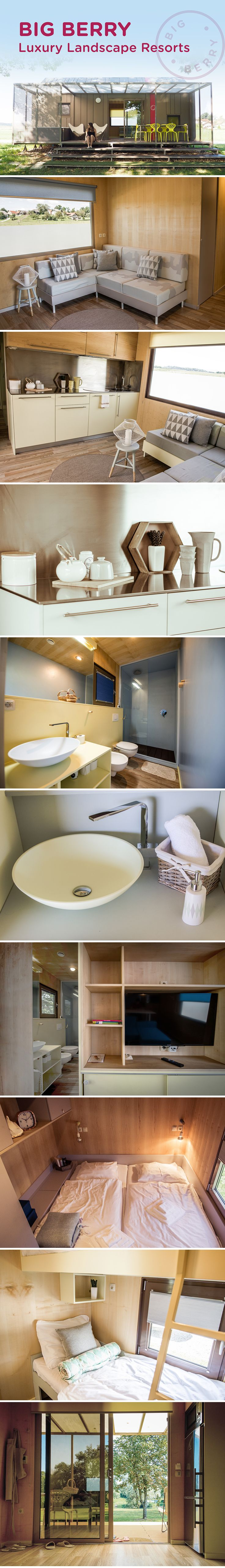 BIG BERRY Luxury Landscape Resorts tiny houses, Slovenia – a new concept of accommodation.