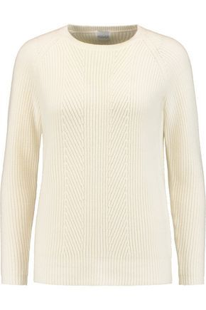 Madeleine Thompson Woman Intarsia Wool And Cashmere-blend Sweater Cream Size XL Madeleine Thompson Eastbay 100% Original Particular YP3Hh