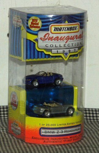 Matchbox New Model Release 1997 Inaugural Collection BMW Z-3 Roadster by Matchbox Toys. $28.49. Exclusive Inaugural Model with an AUthentic First Shot. 1 of 20,000 Limited Edition Vehicles