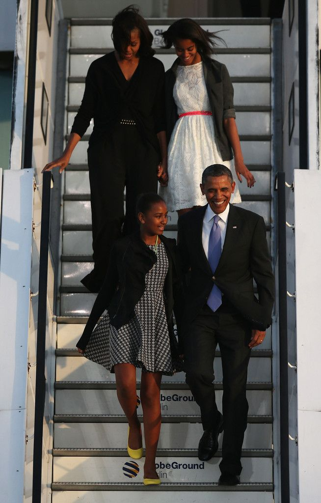 Michelle Obama - Barack Obama and His Family Arrive in Berlin