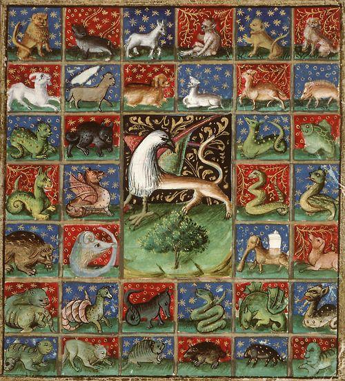 'the properties of beasts' Bartholomeus Anglicus, 'Livre des propriétés des choses' (French translation of Jean Corbechon), Paris ...
