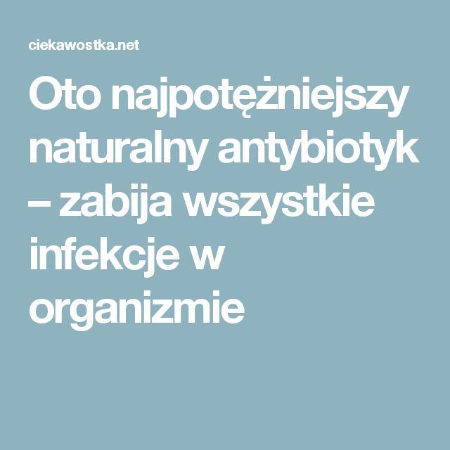Oto najpotężniejszy naturalny antybiotyk – zabija wszystkie infekcje w organizmie