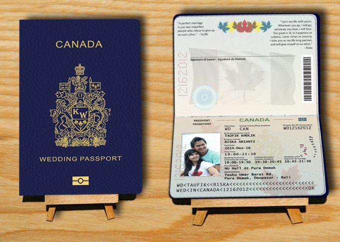design invetation card like the passport