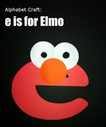 62 best images about letter e activities on pinterest for Elmo arts and crafts